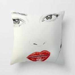 Monica Bellucci Throw Pillow