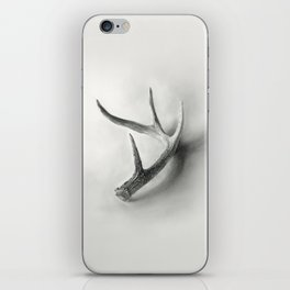 Lost and Found - Deer Antler Pencil Drawing iPhone Skin
