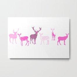 oh deer pink II Metal Print