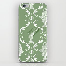 In which a fish frees itself (green option) iPhone Skin