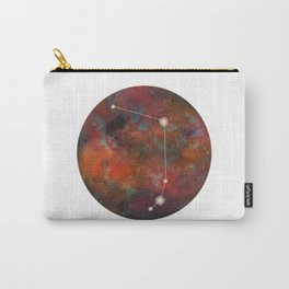 Watercolor Zodiac Aries Galaxy Carry-All Pouch