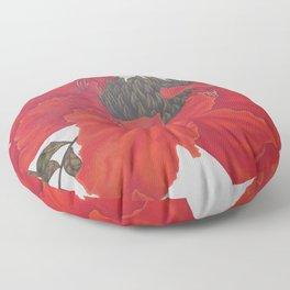 Spathodea Campanulata Floor Pillow