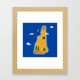 New Hampshire Island Framed Art Print