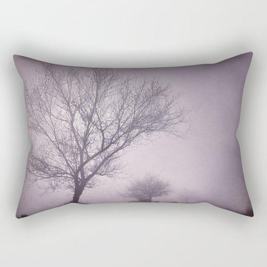 Three trees under the rain. Retro Rectangular Pillow