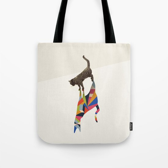 Walking Shadow, Cat Tote Bag