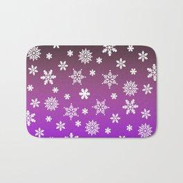 Snow Flurries-Purple/Black Ombre Bath Mat