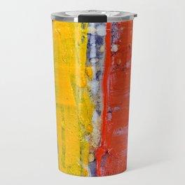 Same, LGBT rainbow abstract, NYC artist Travel Mug