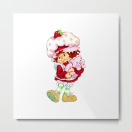 Strawberry Short Metal Print