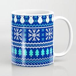 Knitted-Christmas-Pattern Coffee Mug