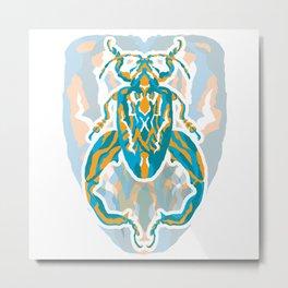 Sagra Beetle _ Psychedelic bug 3.2 _ Besouro Independente Metal Print