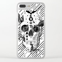 Abstract Skull B&W Clear iPhone Case
