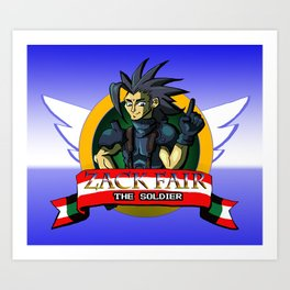 Zack Fair the Soldier  Art Print