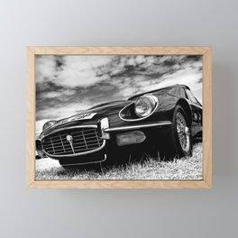 E-Type Jaguar Classic Motor Car Framed Mini Art Print