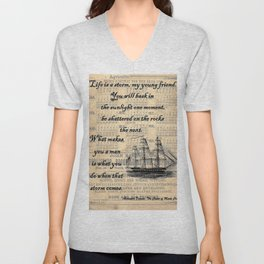 Count of Monte Cristo quote Unisex V-Neck