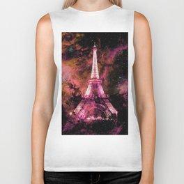Paris Dreams Fuchsia Pink Peach Biker Tank