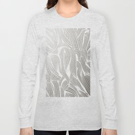 Silver & White Long Sleeve T-shirt