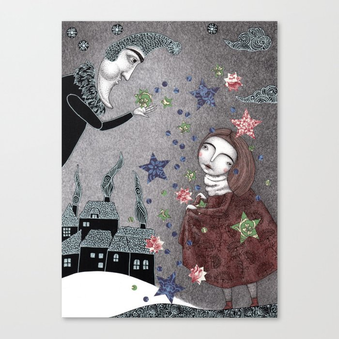 Snow Stars Fine, Snow Stars Mine Canvas Print