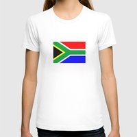 south africa T-shirts featuring south africa country flag by tony tudor