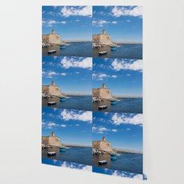 Villanova port harbour Marina Ostuni on the Adriatic sea Wallpaper
