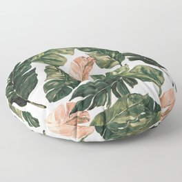 Leaf green and pink Floor Pillow