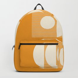 Mid Century Modern Shapes Art in Golden Mustard  Backpack