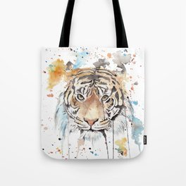 """Watercolor Painting of Picture """"Portrait of a Tiger"""" Tote Bag"""