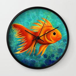 gold fish Wall Clock