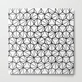 Geometric / Low Poly Pattern (Black) Metal Print