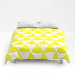 Triangles (Yellow/White) Comforters