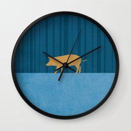 Tamworth Pig Print Wall Clock