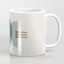 Emerald Abstract Half Moon 3 Coffee Mug