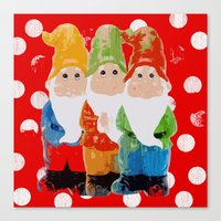 gnome Canvas Prints featuring Gnome by BLOOP