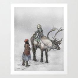 The Little Robber Girl Art Print