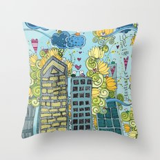 Livin' In The City  Throw Pillow