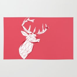 geometric deer Rug