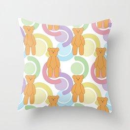 Teddy Bear Bonanza Throw Pillow