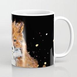 Fox in black Coffee Mug