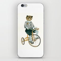 Bear on a Tricycle iPhone & iPod Skin