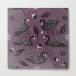 Black Swans adrift Metal Print