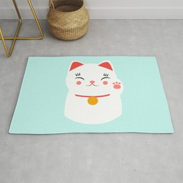 Lucky happy Japanese cat Rug