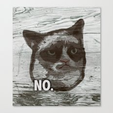 Grumpy Kitty : NO. Canvas Print