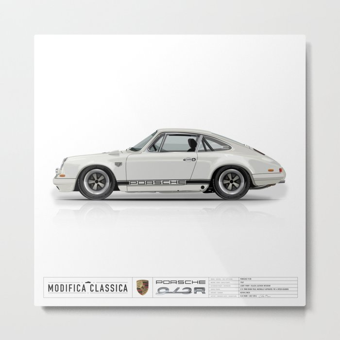 1967 Porsche 912R LIGHT IVORY Metal Print