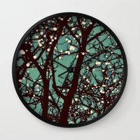 night Wall Clocks featuring Night Lights by elle moss