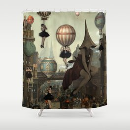 Love Is In The Air-Flappers Invasion Shower Curtain