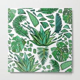 Tropical Leaf Pattern 01 Metal Print