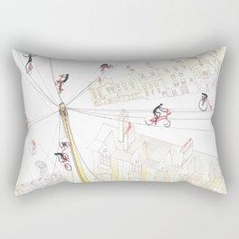 Cycling in London Rectangular Pillow