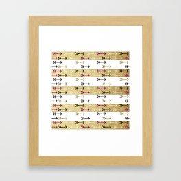 Boho Arrows Framed Art Print