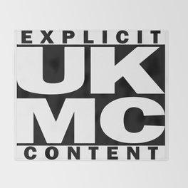 UK MC Explicit Content Throw Blanket