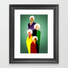 GOLDEN GIRLS  Framed Art Print