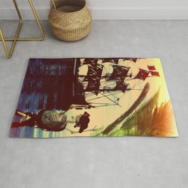 pirate ship Rug